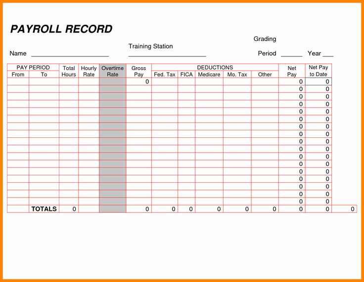 Employee Payroll Ledger Template Inspirational 8 Payroll