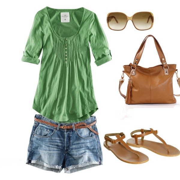 Casual Outfit-love the green maybe with cowboy boots