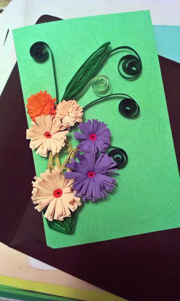 #diy #quilling #card #flower #quillingflower