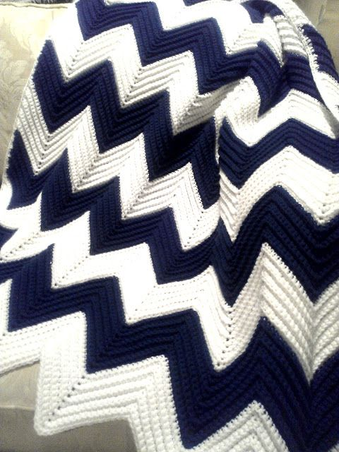 All Things Bright and Beautiful: A Gift of Love: Chevron Afghan.  Maggie wants this one all for her!