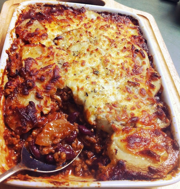 Quorn Gratin, perfect cold weather food.........