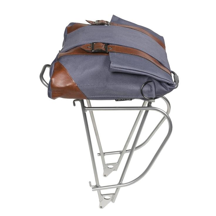 Racktime TourIt Rear Bike Rack with Wall-It Bag in Folkstone Grey
