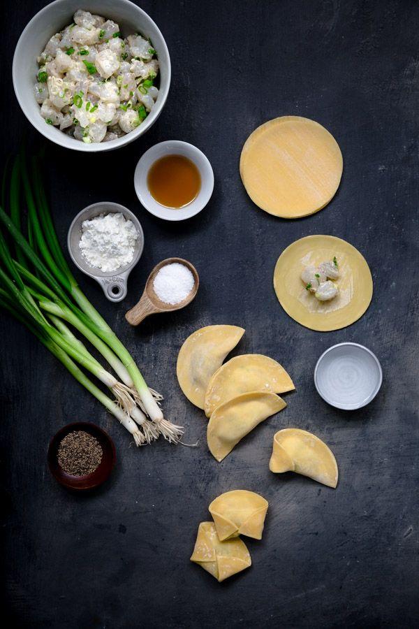 Shrimp Dumpling Soup - easy to make shrimp dumplings in a quick yet flavorful broth. | tamingofthespoon.com
