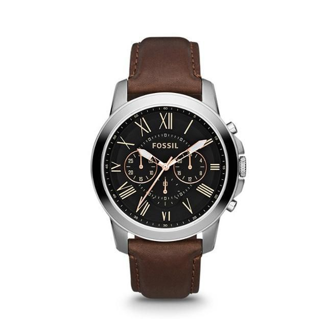 bcc36af19fc FS4813P Grant Chronograph Brown Leather Watch by Fossil for Men - 1 Pc  Watch  menswatchesfossil