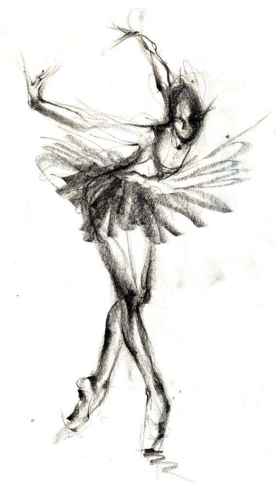The Black Swan - Ballet Art - Etsy