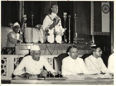Jawaharlal Nehru and Lord Mountbatten Declare Indian Independence in Constituent Assembly, Delhi 15 August 1947 b