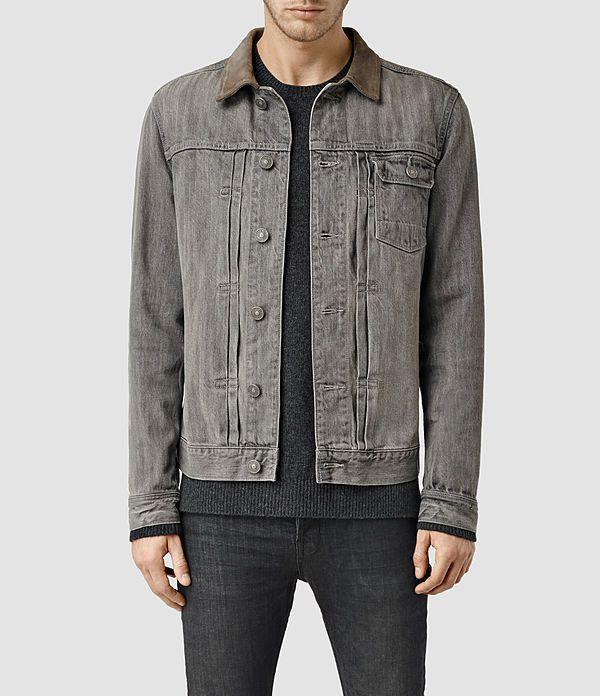 All Saints- Herren Hough Denim Jacket (Grey) -