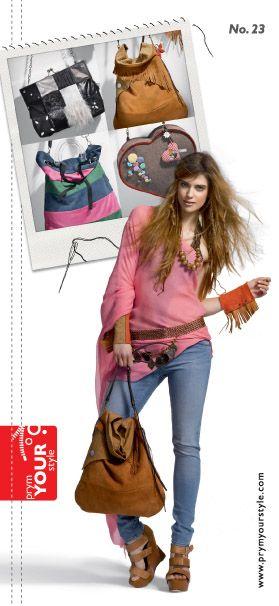 Φυλλάδιο με ιδέες και οδηγίες για να φτιάξετε την τσάντα που σας αρέσει.