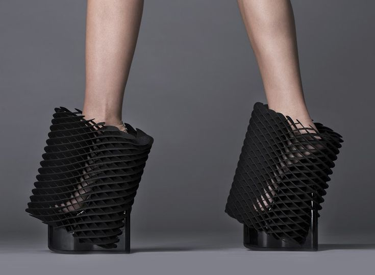 michael young young shoe 3D printed shoes by united nude and 3D systems at milan design week 2015