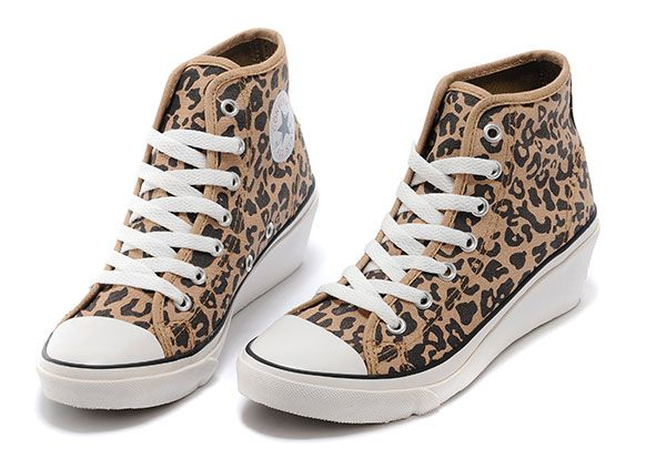 converse sale - Bruin Converse Hi-ness Vrouwen Platform Plus Leopard Print Chuck Taylor All Star High Tops Sneakers