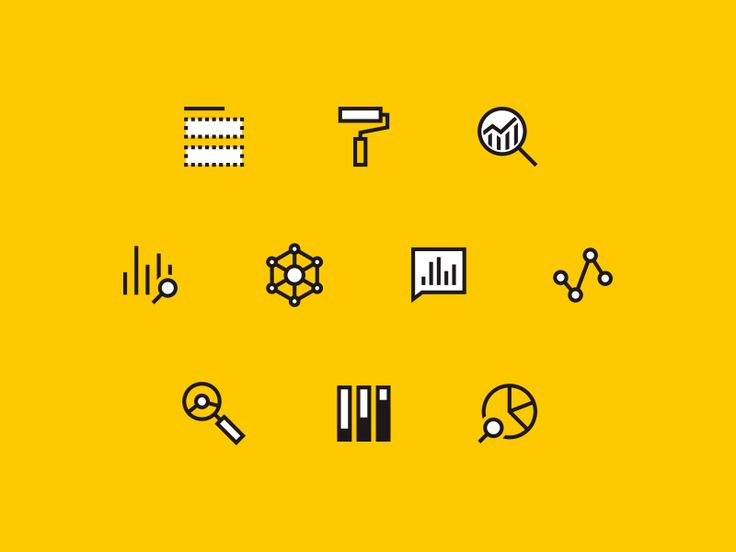 Power BI Icons by Jonathan Howell #Design Popular #Dribbble #shots