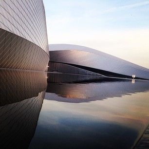 The Blue Planet, aquarium in Copenhagen, by 3XN Architects.