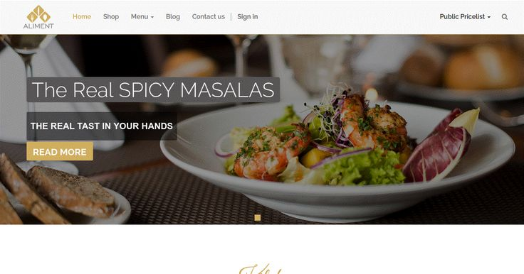 Restaurant Theme For Odoo v8