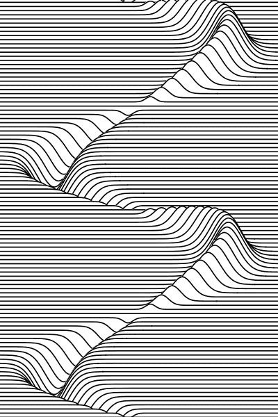 Line and form: the use of lines gives it form, making it look more 3D