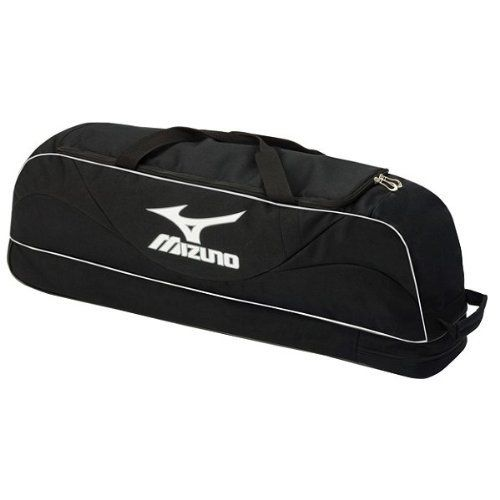 Mizuno Prospect Wheel Bag (Black) by Mizuno. $39.75. The Mizuno Prospect Wheel Bag is designed with all the essential features for future major leaguers. Bag holds 2 bats and is large enough to hold a helemt with mask. PVC Free.