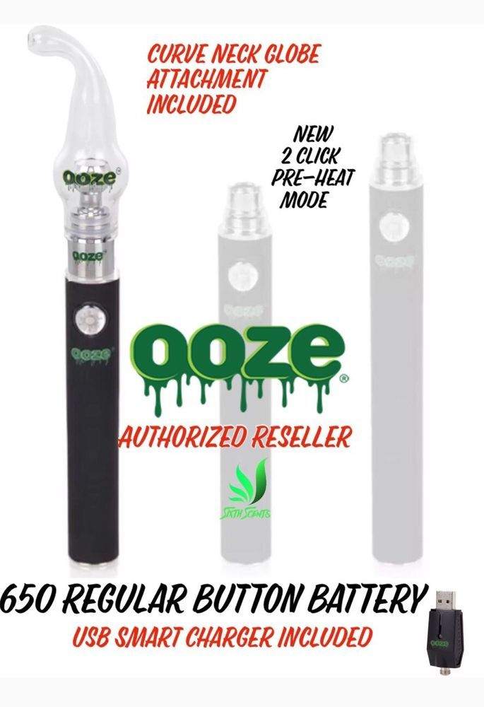 Ooze Curved Neck Pen Kit 650 MAh Button Battery Us… | DABS