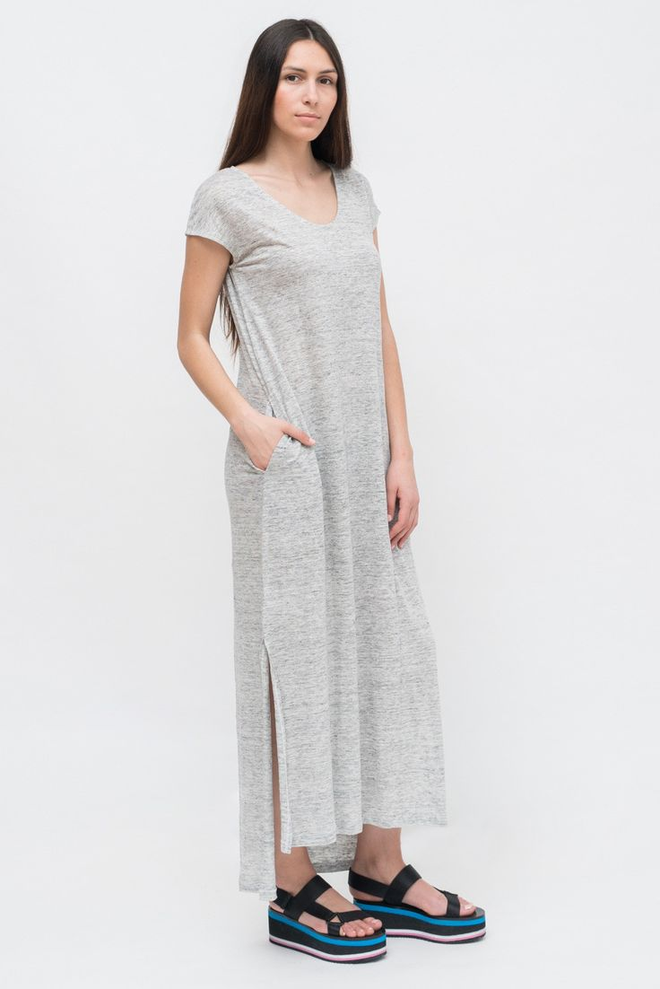 LONG GREY MELANGE DRESS from Ozon Boutique
