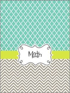 ... Covers on Pinterest | Teacher Binder, Chevron Binder Covers and …