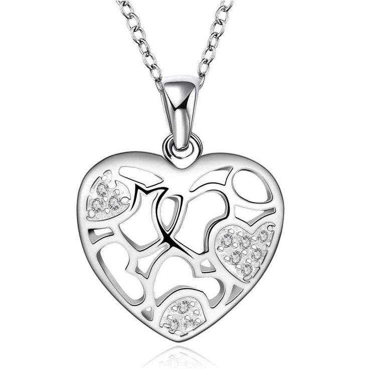Fashion silver plated Chain heart so much not good Necklaces Pendants For Women Men jewelry SMTN630