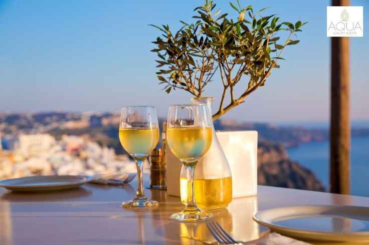 Chilled wine from the local wineries, overlooking the Aegean…Unique experiences in Santorini! More at aquasuites.gr