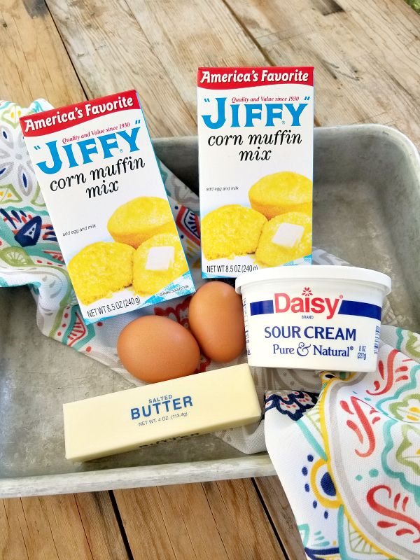 Spiffy Jiffy Cornbread A Spiffed Up Semi Homemade Recipe Using Jiffy Cornbread Mix Sour Cream And Jiffy Cornbread Cornbread Recipe Sweet Corn Bread Recipe