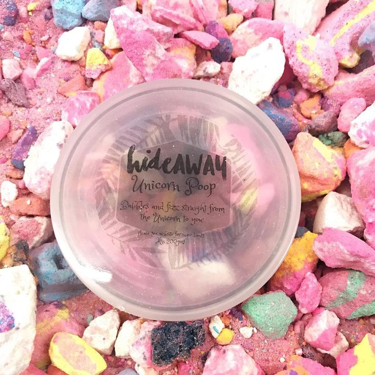 OUR UNICORN POOP HAS JUST GOTTEN A LITTLE BIGGER. Now in  a larger container so there has been an increase in the price. We thought we should let you all know so there are no surprises.    www.hideaway.online