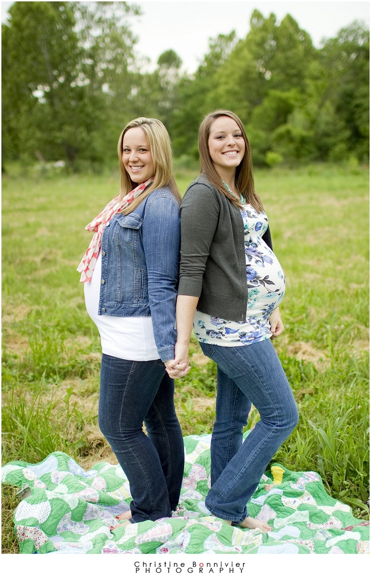 Bump 2 bump - pregnant together - sister/friends - maternity - Pregnant sisters!