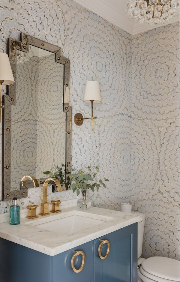 Beach House Bathroom Wallpaper Ideas In 2020 Powder Room Design