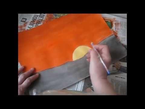 Рисуем просто -Рассвет.урок №2 - Ярмарка Мастеров - ручная работа, handmade