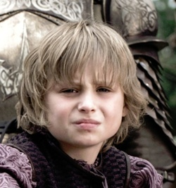 Tommen Baratheon played by Callum Wharry.