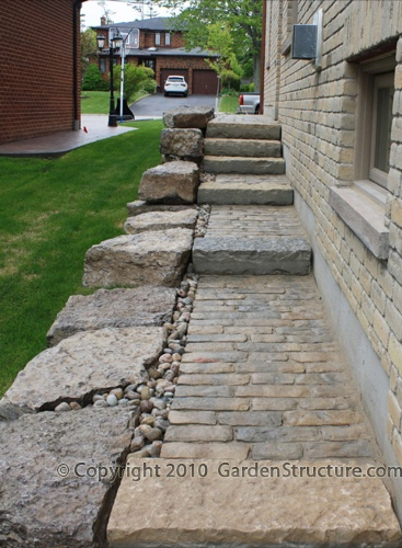 17 images about stone stairways on pinterest gardens for Natural stone walkways