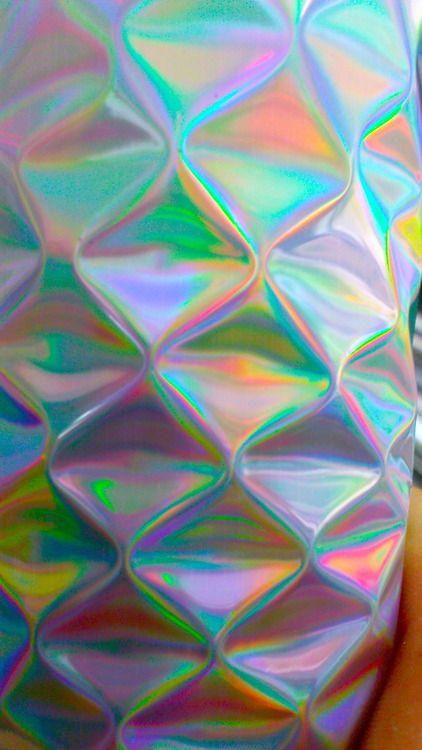 iridescent, translucent, metallics, holographic ... Iridescent Holographic Fabric