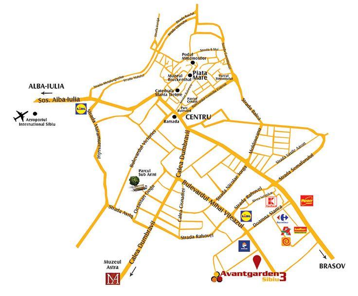 Avantgarden3 Sibiu vă oferă liniştea şi siguranţa unei zone deosebite!  Situat la intrarea principală în Sibiu, în Șelimbăr, cartierul rezidențial Avantgarden3 este poziționat în cea mai cautată zonă a orașului, Prelungirea Bulevardului Mihai Viteazul, în apropiere de principala zonă comercială a Sibiului – parcul de retail Shopping City Sibiu (Promenada Mall, Carrefour, Auchan, Kaufland). Tot aici se află și Piața Rahovei, Lidl și Dedeman.