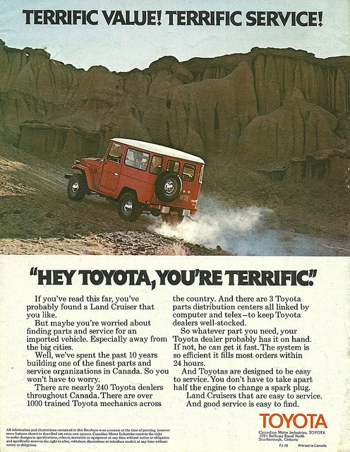 Land Cruiser in Canada 1976