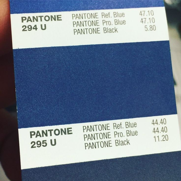 Pantone 295 U is the color of the day. #designer #pantone ...