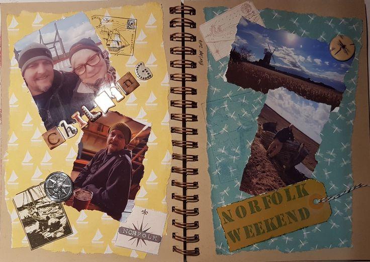 Scrapbook page Weekend in Norfolk