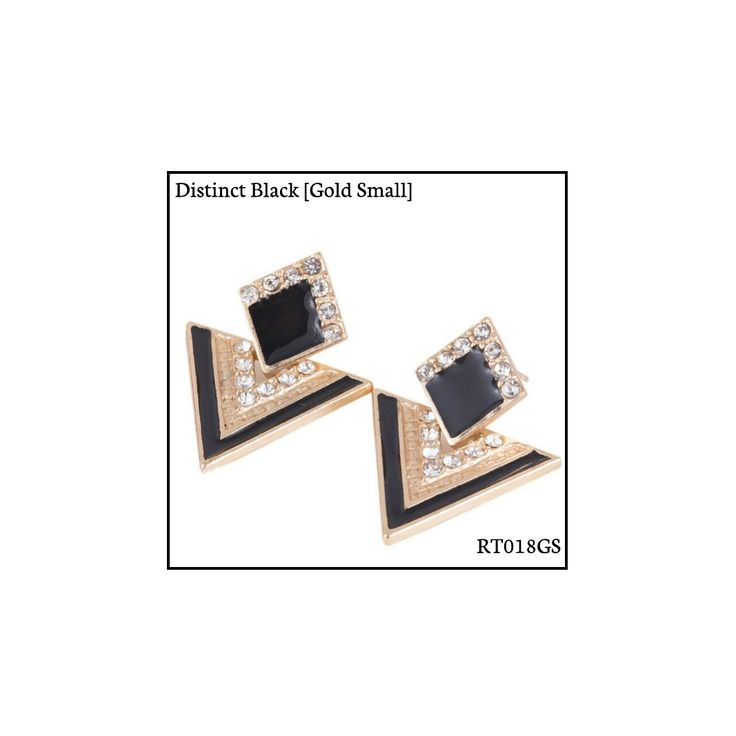 Ref: RT018GS Distinct Black [Gold Small] . Medidas: 2.5 cm x 2 cm . So Oh: 3.99 . Disponível para entrega imediata! Boas compras! #sooh_store #onlinestore #rhombus #trigonal #brincos #earrings #fashion