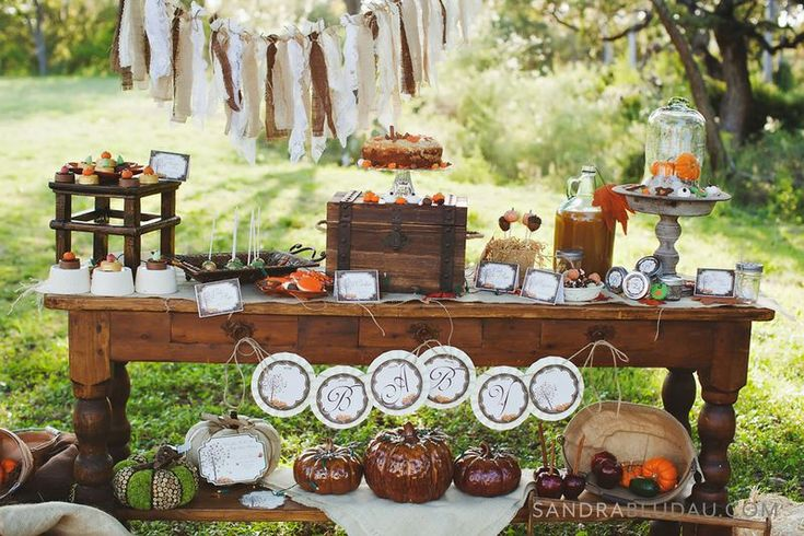 Rustic Fall Thanksgiving baby shower via Kara's Party Ideas - www.KarasPartyIdeas.com