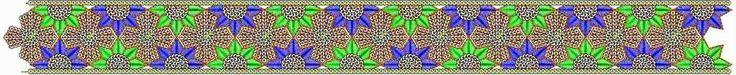 Aantreklike Floral figuur Geborduurde Kant grens