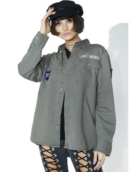 I Hate Everyone Vintage Army Jacket