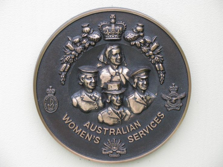 Australian Women Service cast badge