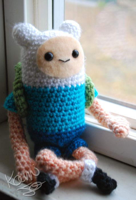 Adventure Time Finn Doll by kamijo. Inspiration