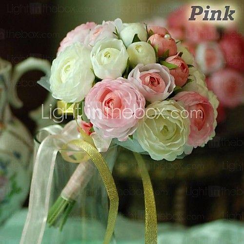 """Bouquets de Noiva Redondo Rosas Buquês Casamento Festa / noite Algodão Seda 7.87""""(Aprox.20cm) de 2017 por €24.49"""