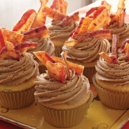 Maple bacon cupcakes, sooo good. We had them at our wedding, though they were a different recipe/look.