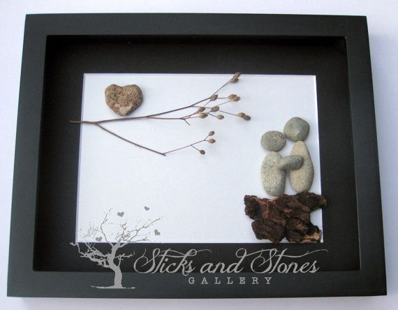 Couple's Valentine's Gift Home Decor for Couple by SticksnStone
