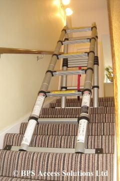 Our Trio Telescopic Ladder Can Also Be Used On Stairs