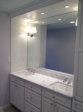 Photo Album Website Built in vanity white cabinets traditional bathroom philadelphia by Focal Point Custom Renovations LLC