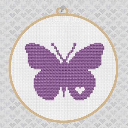 Butterfly Silhouette Cross Stitch PDF Pattern I by kattuna on Etsy, $3.50
