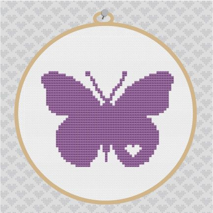 40% OFF code: CYBERMONDAY40 Butterfly Silhouette Cross by kattuna