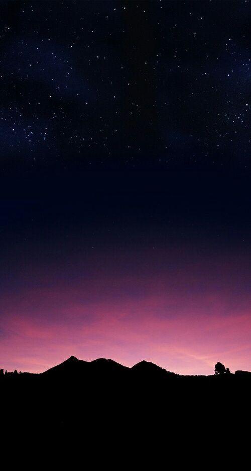 Hermoso cielo de estrellas